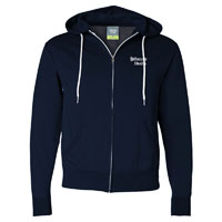 NAVY UNISEX FULL-ZIP HOODED SWEATSHIRT