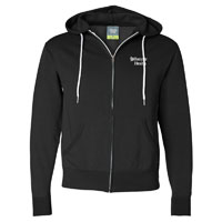 UNISEX BLACK ZIP HOODED SWEATSHIRT