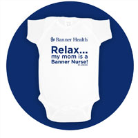 """MOM'S A NURSE"" NEWBORN ONESIE"
