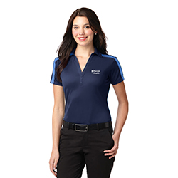 LADIES PERFORMANCE STRIPE POLO